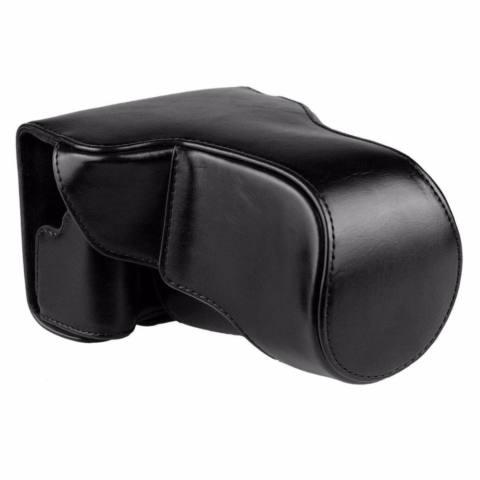 Canon EOS M10 / M100 Leather Bag / Case / Tas Kulit Kamera Mirrorless 15-45 MM / 18-55 MM - Hitam 1