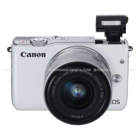 CANON EOS M10 WHITE + EF-M15-45 IS STM Kit Wifi 18MP CMOS Touchscreen Lcd Full Hd (Datascrip) + Sandisk 8gb + Screen Protector 5