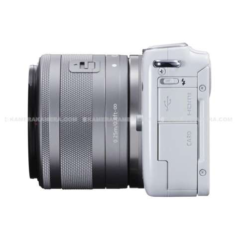 CANON EOS M10 WHITE + EF-M15-45 IS STM Kit Wifi 18MP CMOS Touchscreen Lcd Full Hd (Datascrip) + Sandisk 8gb + Screen Protector 3