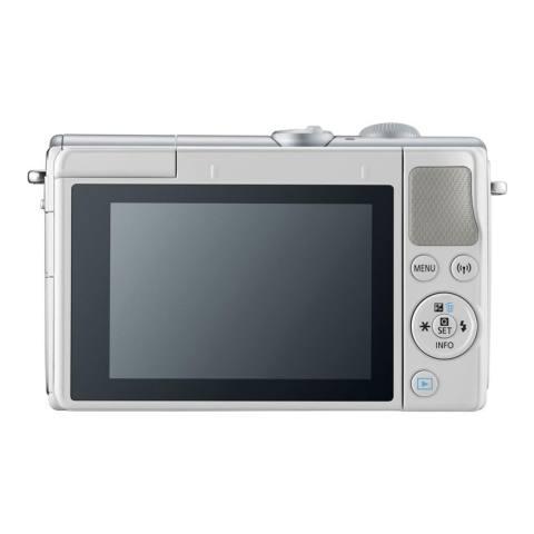 Canon EOS M100 Kit 15-45mm White Kamera Mirrorless - 24.2MP (Garansi 1th) Bonus SanDisk Ultra 16gb 4
