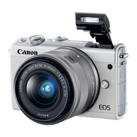 Canon EOS M100 Kit 15-45mm White Kamera Mirrorless - 24.2MP (Garansi 1th) Bonus SanDisk Ultra 16gb 1