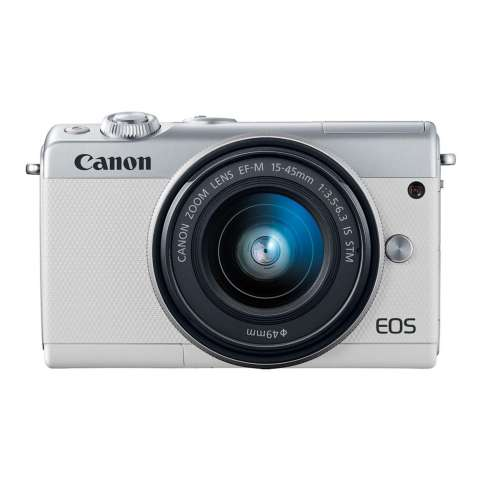 Canon EOS M100 Kit 15-45mm White Kamera Mirrorless - 24.2MP (Garansi 1th) Bonus SanDisk Ultra 16gb 3