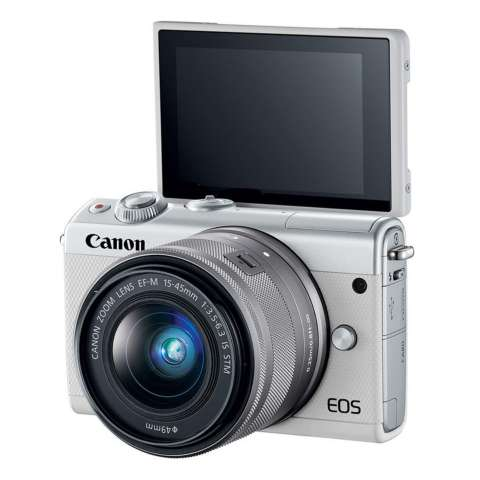 Canon EOS M100 Kit 15-45mm White Kamera Mirrorless - 24.2MP (Garansi 1th) Bonus SanDisk Ultra 16gb 7