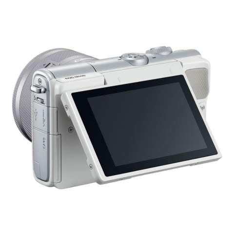 Canon EOS M100 Kit 15-45mm White Kamera Mirrorless - 24.2MP (Garansi 1th) Bonus SanDisk Ultra 16gb 2