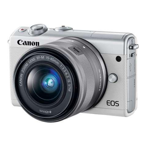 Canon EOS M100 Kit 15-45mm White Kamera Mirrorless - 24.2MP (Garansi 1th) Bonus SanDisk Ultra 16gb 5