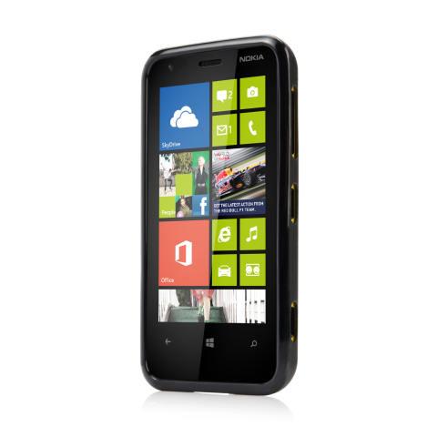 Capdase Case for Nokia Lumia 620 SolID Hitam Soft Jacket