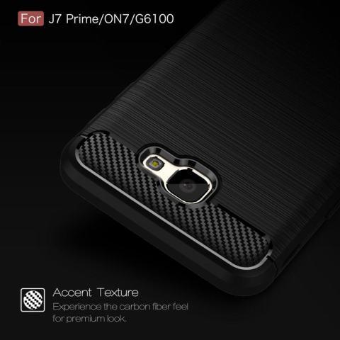 Serat Karbon Seri Bisa Tekstur Shock Penyerapan Case untuk Samsung Galaxy On7 (2016) /Pada NXT/J7 Prime-Intl 3