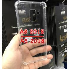Case Anti Crack Fuze Mika Samsung A8 2017/A5 2018 - Clear Transparant