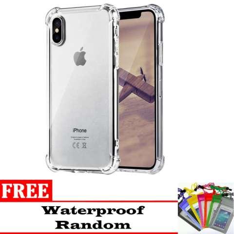 Harga Jual Case Anti Shock Anti Crack Elegant Softcase For Iphone X Free Waterproof Harga Rp