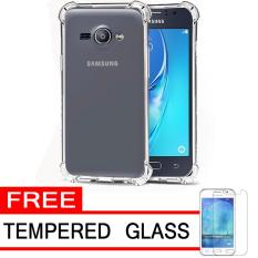 Case Anti Shock / Anti Crack Elegant Softcase  for Samsung Galaxy J1 Ace - White Clear + Free Tempered Glass