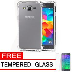 Case Anti Shock / Anti Crack Elegant Softcase  for Samsung Galaxy J2 Prime - White Clear + Free Tempered Glass
