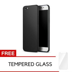 Case Baby Skin Ultra Thin Back Cover Case For VIVO Y67 - Black + Gratis Tempered Glass