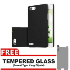 Case Black Moon Oppo Neo 7 / A33  Ultra Slim Matte Softcase (Anti Minyak) FREE Tempered Glass