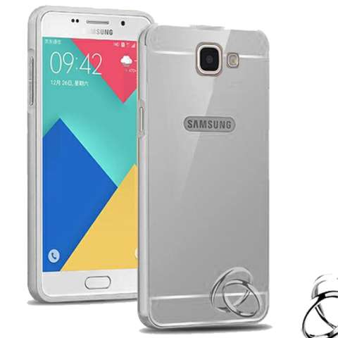 Case Bumper Mirror Slide For Case Bumper Mirror Slide SAmsung Galaxy J7 Prime + Free Tempered