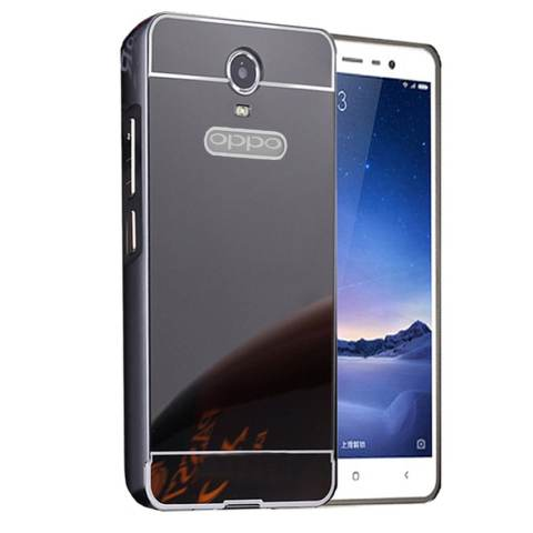 Home; Case Bumper untuk Oppo Joy 3 2 in 1 Slide Mirror Backcase Hardcase Sliding