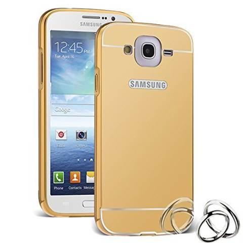 Case Bumper untuk Samsung Mega 5 8 2 in 1 Slide Mirror Backcase Hardcase Sliding Gold