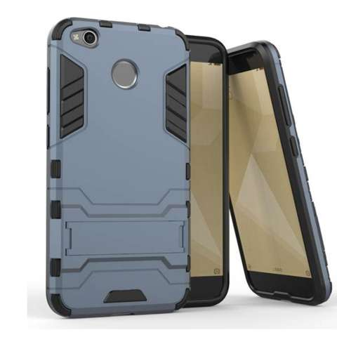 CASE EXECUTIVE IRON MAN 2 IN 1  ROBOT  WITH STAND FOR XIAOMI REDMI 4X  - RANDOM COLOR 2
