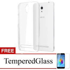 Case for Asus ZenFone 6 / A600CG - Clear + Gratis Tempered Glass - Ultra Thin Soft Case