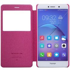 Case untuk Huawei Honor 6x (5.5 Inch) Cover NILLKIN Sparkle PU Leather Flip Cover Smart Bangun Fungsi untuk HUAWEI Mate 9 Lite-Intl