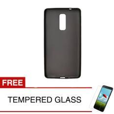 Case for INFX Note 3 Pro / X601 - Slim Soft Case - Hitam Solid + Gratis Tempered Glass