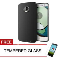 Case for Motorola Moto Z2 Play / XT1710 - Slim Black Matte Hardcase +  Gratis Tempered Glass