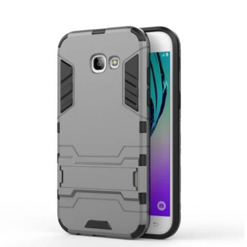 Case For Samsung Galaxy A3 2017 Iron Man Armor Series - Grey