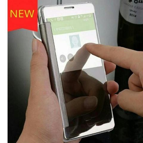 Case For Samsung Galaxy J5 Pro Flipcase Flip Mirror Cover S View Transparan Auto Lock Casing