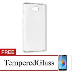 Case for Smartfren Andromax E2 Plus - Clear + Gratis Tempered Glass - Ultra Thin Soft Case