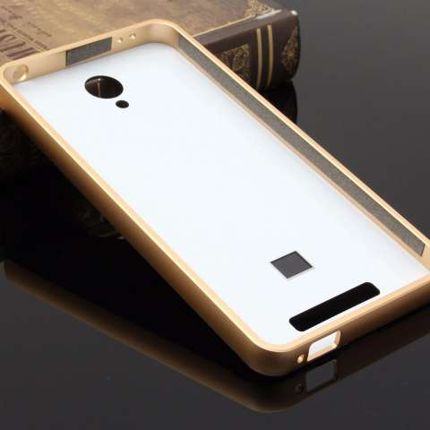 Case for Xiaomi Redmi Note 3 Pro Aluminium Bumper With Mirror Backdoor Slide - Gold +