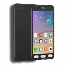 Case Hardcase 360 Full Body Casing Hp Depan Belakang Free Tempered Glass Oppo F1s (Hitam)