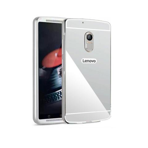 Case Mirror Aluminium Bumper For Lenovo Vibe K5 Note - Silver