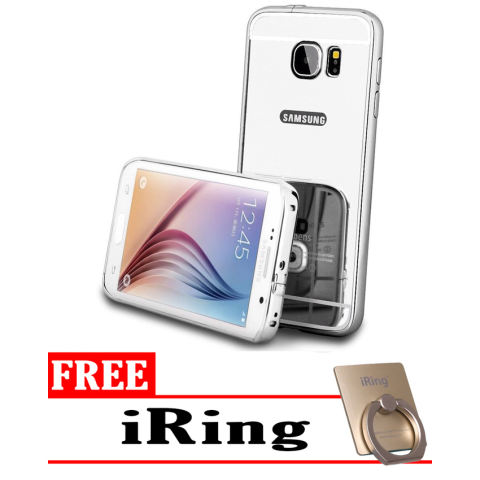 Home; Case Mirror Aluminium Bumper For Samsung Galaxy A3 2016 - iRing + Silver