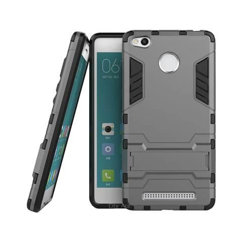 Case Flip Leather Cover for Xiaomi Redmi Note 2- Biru Dongker + Gratis Tempered Glass