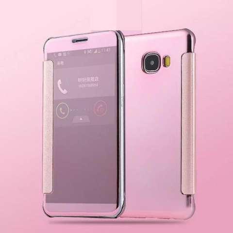 Case Samsung Galaxy A5 2016 Flipcase Flip Mirror Cover S View Transparan Auto Lock Casing Hp