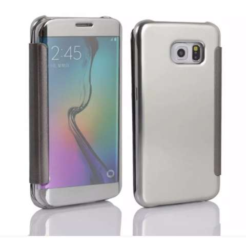 Case Samsung Galaxy S7 Edge Flipcase Flip Mirror Cover S View Transparan Auto Lock Casing Hp