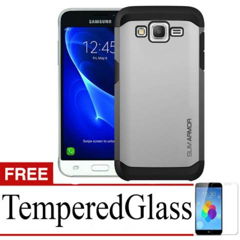 ... Leather Flip Wallet Case Cover. Source · Case Slim Armor For Samsung Galaxy J5+ Free Temperedglass - Silver