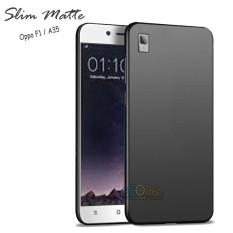 Case Slim Black Matte Oppo A35 / F1 Baby Skin Softcase Ultra Thin Jelly Silikon Babyskin