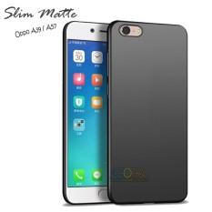 Case Slim Black Matte Oppo A57 / A39 Baby Skin Softcase Ultra Thin Jelly Silikon Babyskin