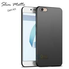 Case Slim Black Matte Oppo A71 Baby Skin Softcase Ultra Thin Jelly Silikon Babyskin