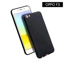 Case Slim Black Matte Oppo F3 Softcase Baby Skin