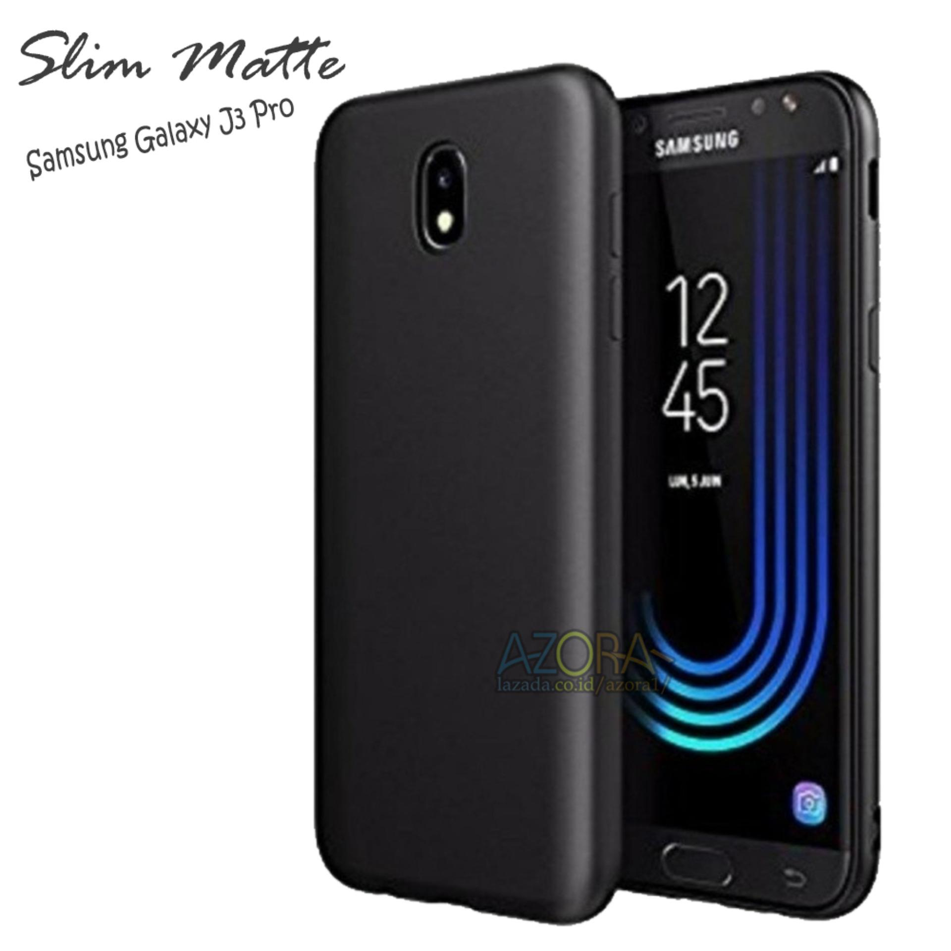 Case Slim Black Matte Samsung Galaxy J3 Pro Baby Skin Softcase Ultra Thin Jelly Silikon Babyskin