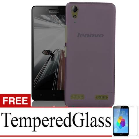 ... Home Case Ultrathin for Lenovo A6010 Hitam Clear Gratis Tempered Glass