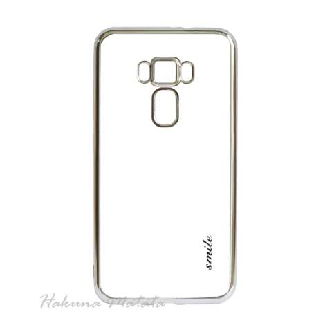 Case Ultrathin Shining List Chrome for Asus Zenfone 3 Max ZC553KL - Silver