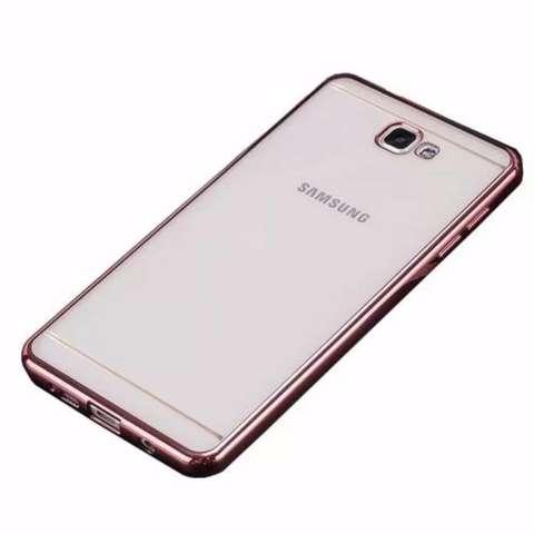 Case Ultrathin Shining List Chrome Samsung Galaxy J2 Prime Rose Gold Gratis Tempered Glass