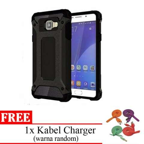 Case Untuk Samsung Galaxy J7 Prime Ultimate Shockproof Capsule Series Black Edition - Free Kabel USB