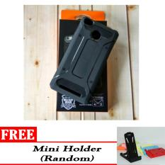 Case Untuk Xiaomi Redmi 3s / 3 Pro Ultimate Shockproof Capsule Series Black Edition - Free Mini Holder