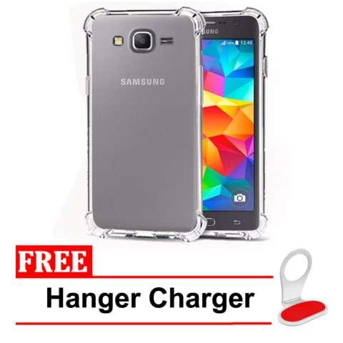 CaseAnti Shock Anti Crack Shock Benturan Elegant Softcase for Samsung Galaxy J1 Ace Clear Free Hanger