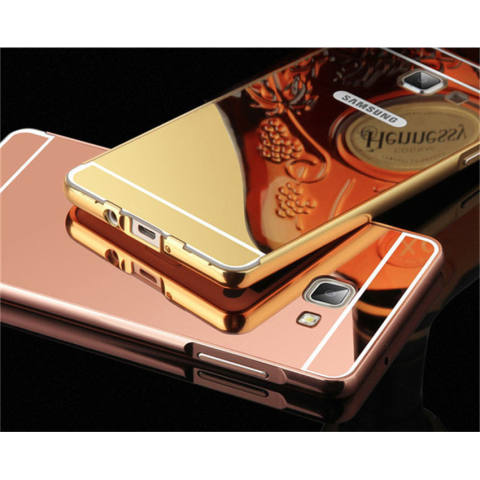 BELI 1 GRATIS 4 (TOTAL 5) Warna Random Case Metal Bumper Mirror for Samsung