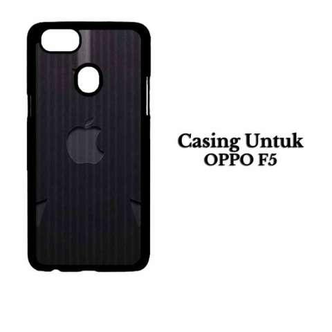 Casing OPPO F5 Arrow gray Apple Logo Custom Hard Case Cover