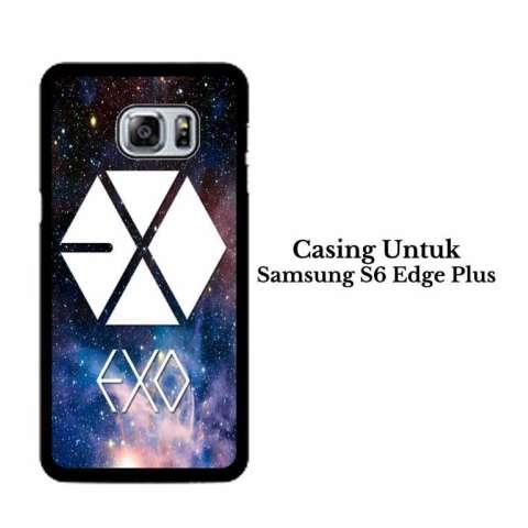 Casing SAMSUNG S6 EDGE PLUS exo logo nebula Hardcase Custom Cover